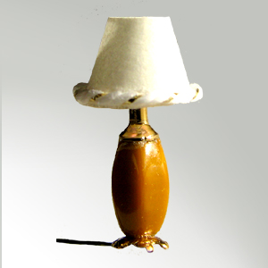 Squared Oval Table Lamp