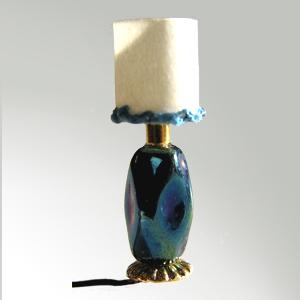 Iridescent blue table Lamp