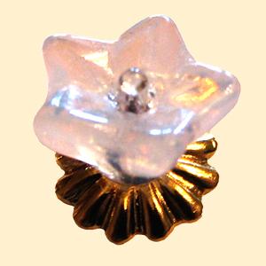 Glass Flower Ceiling Fixture
