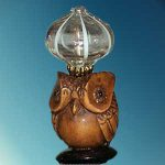 Carved Owl w/ Globe -- G-L-08s