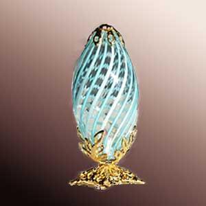 Tall Blown Glass Lamp -- G-L-16