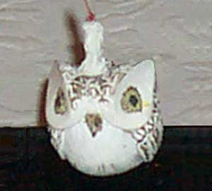 Short Owl Lamp with Candle