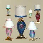 Flowered Base Lamp